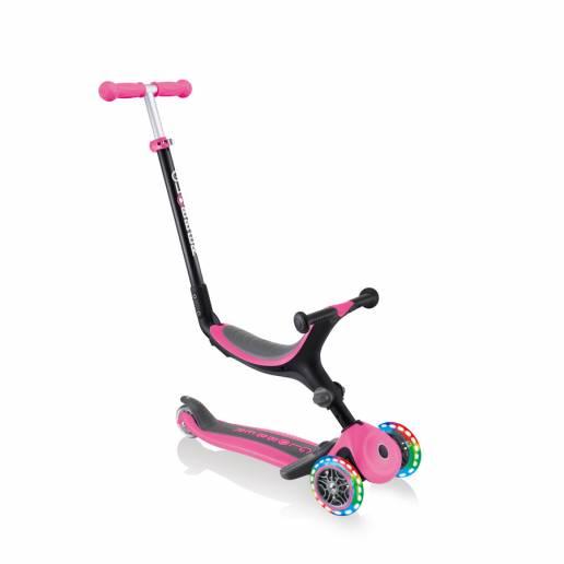 Globber GO-UP Foldable Plus Lights / Deep Pink